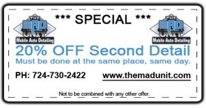 Auto Detailing Discount Coupon